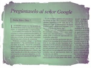 Pregúntaselo al señor google (Periódico el Día del 18 de mayo de 2012) @pedrobaezdiaz