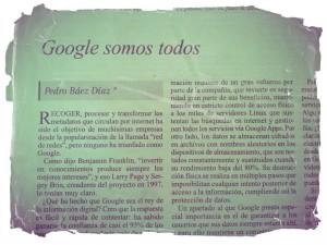Google somo todos. Pedro Báez Díaz (@pedrobaezdiaz)